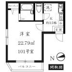 101号室(間取)